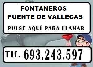 Fontaneros Puente de Vallecas Madrid Urgentes