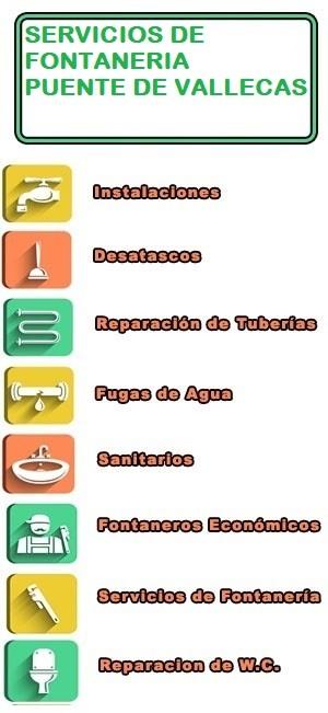servicios de fontaneria en Puente de Vallecas