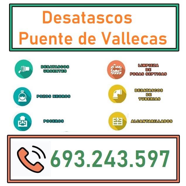 Desatascos Puente de Vallecas